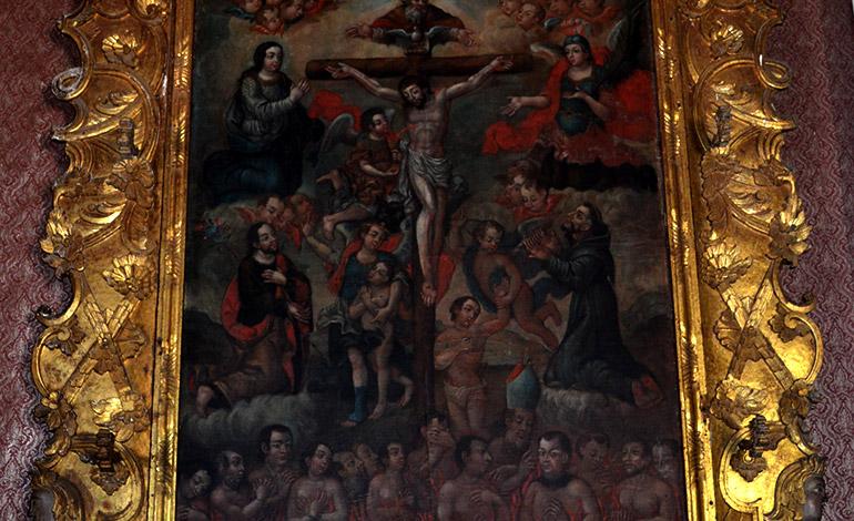 El retablo de Las Animas, una de las pinturas más valiosas.
