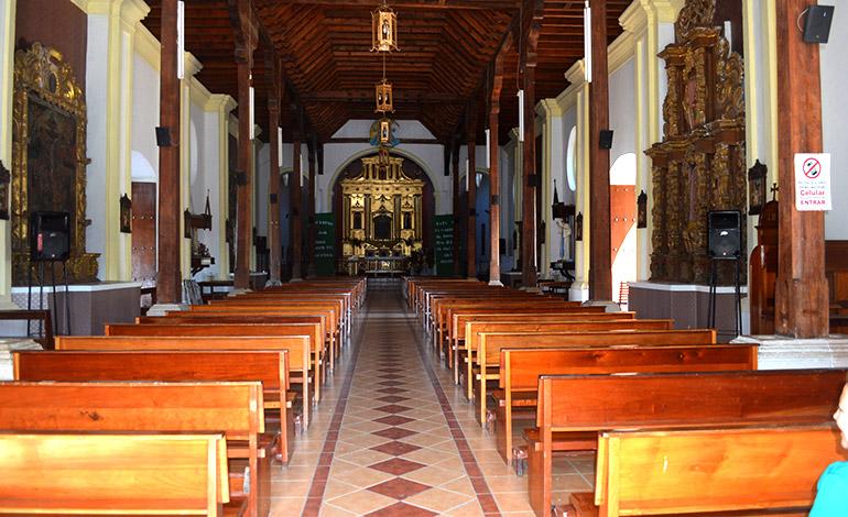 Esta es la nave principal de la majestuosa catedral de Danlí. Fue restaurada a principios del año 2000.