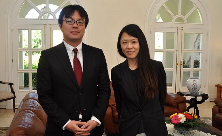 Takashi Ishida y Shoko Mitsui