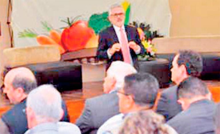 José Perdomo, presidente de CropLife Latín América, fue uno de los conferencistas internacionales.