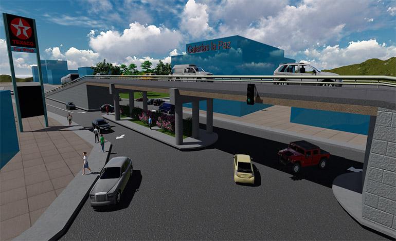 Se tiene prevista la edificación de un puente elevado en la avenida La Paz, que empalmará con el paseo La Reforma.