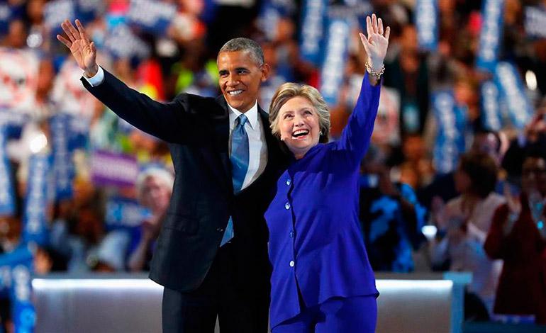 Obama tenía puestas sus esperanzas en la excandidata demócrata a la Casa Blanca y su ex secretaria de Estado, Hillary Clinton, para dar continuidad a sus políticas durante los próximos cuatro años