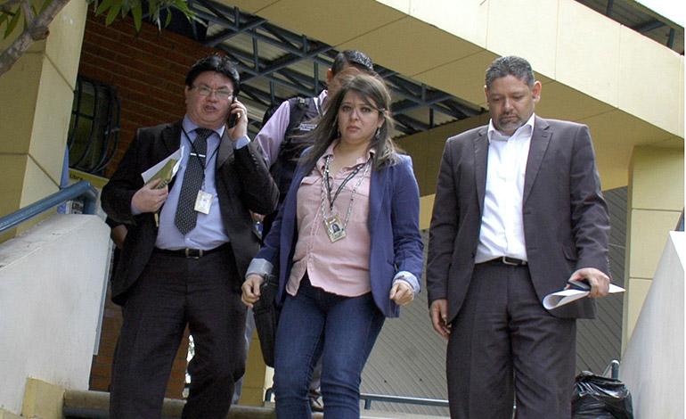 Las autoridades del TSE llegaron a la UNAH para coordinar la capacitación de los estudiantes.