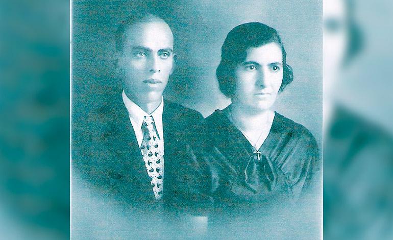 Don Gabriel y Doña Elena Kafaty fundadores de la fábrica de Café El Indio