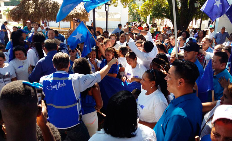 Los nacionalistas vivieron una verdadera fiesta cívica en el inicio de campaña el fin de semana.