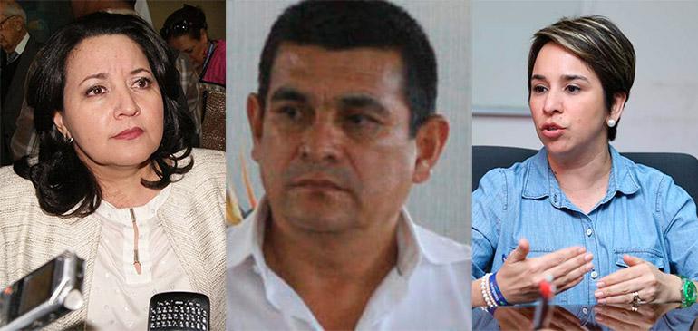 Yolany Batres, Salvador Valeriano y Karla Cueva.