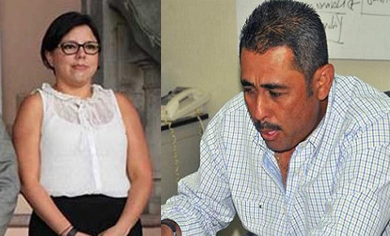 Christa Castro y Walter Maldonado.