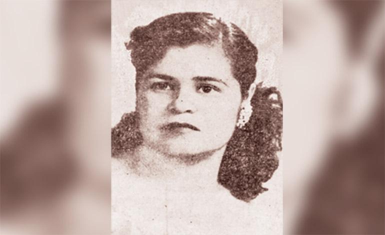 Erlinda Landa Blanco (Liberal) una de las primeras tres diputadas de Honduras (1957).