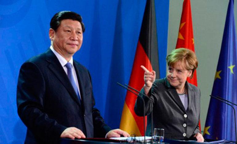 Macron, Xi, Merkel y Juncker conversarán en París el martes sobre comercio y clima