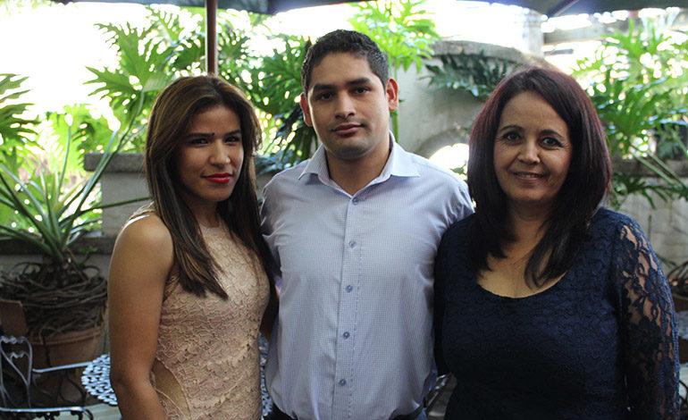 Carolin Varela, Orlando Tróchez, Lourdes Cerrato.