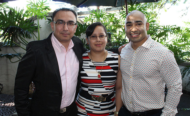 Marco Domínguez, Esmelia Ávila, Hamyl Castellanos.