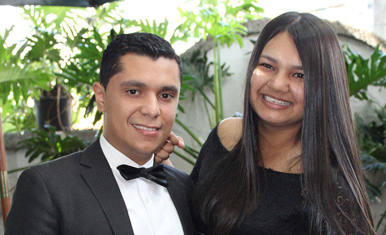 Jimmy Velásquez y Gabriela Borjas.