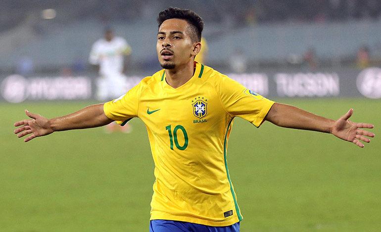 Alan, uno de los mejores de Brasil en el Mundial sub-17. EFE/EPA/PIYAL ADHIKARY