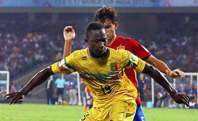 El delantero maliense Lassana N'Diaye, uno de los más destacados del Mundial sub-17.  EFE/DIVYAKANT SOLANKI
