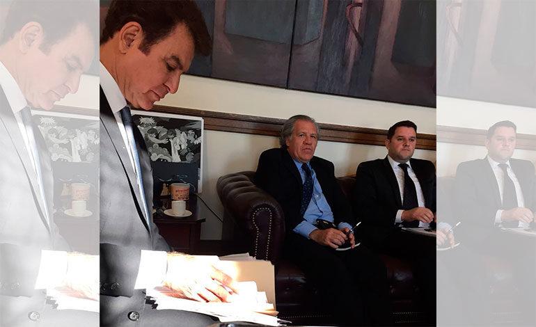 Nasralla se reúne con Luis Almagro en Washington