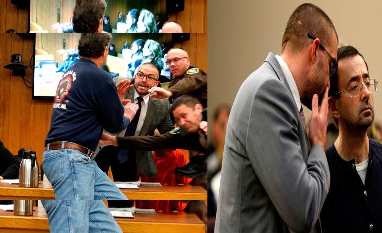 Padre de dos gimnastas abusadas quiso atacar a Larry Nassar en la corte