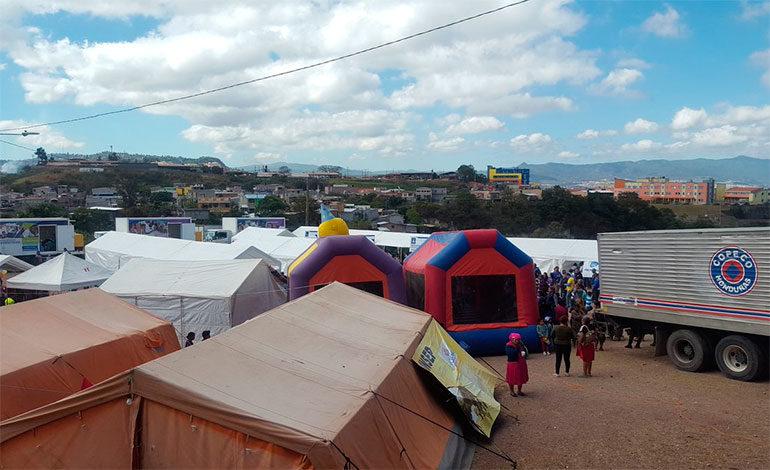 Copeco atiende peregrinos que visitan la Virgen de Suyapa