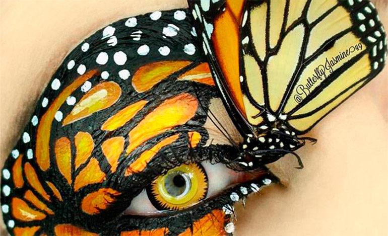Artista del maquillaje crea sorprendentes looks con ¡insectos muertos!