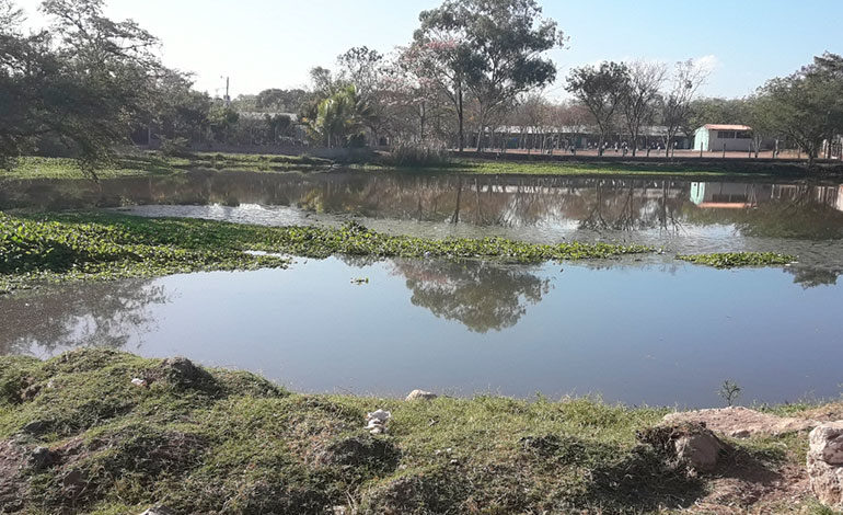 "Se ""ahoga"" laguna artificial"
