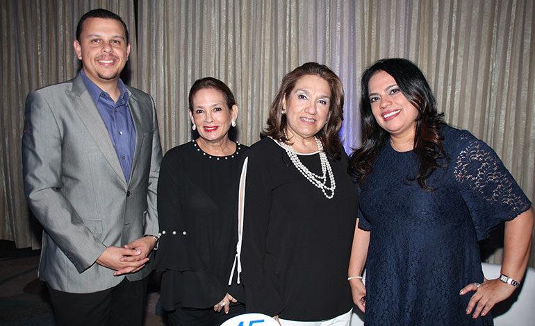 Allan Castillo, Patricia de Mendieta, Maya de Vargas, Martha Bonilla.