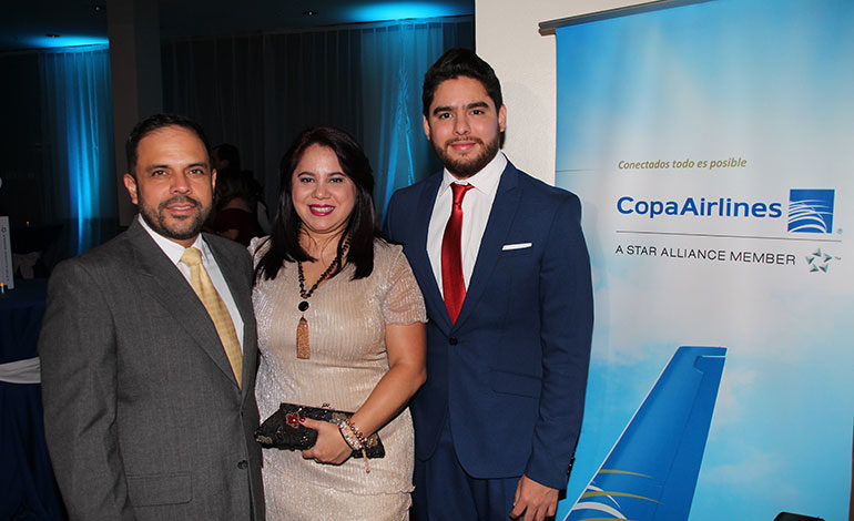 Óscar Barahona, Berthy Robles, Kenneth Corrales.
