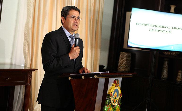 """Presidente Hernández: Hay buena voluntad en legisladores de EE UU para ayudar a """"tepesianos"""""""