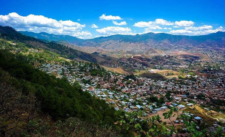 Tegucigalpa está rodeada de puntos volcánicos