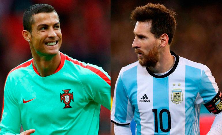 Messi y Cristiano, vecinos de entrenamiento