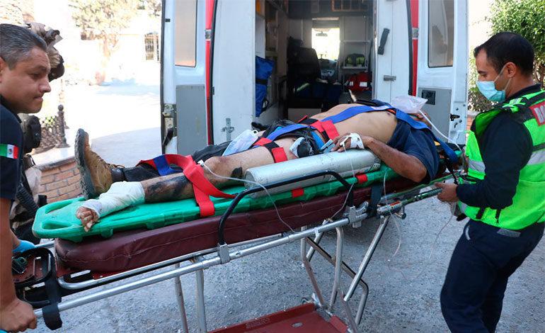 Hondureño cae de ferrocarril y se amputa pierna izquierda