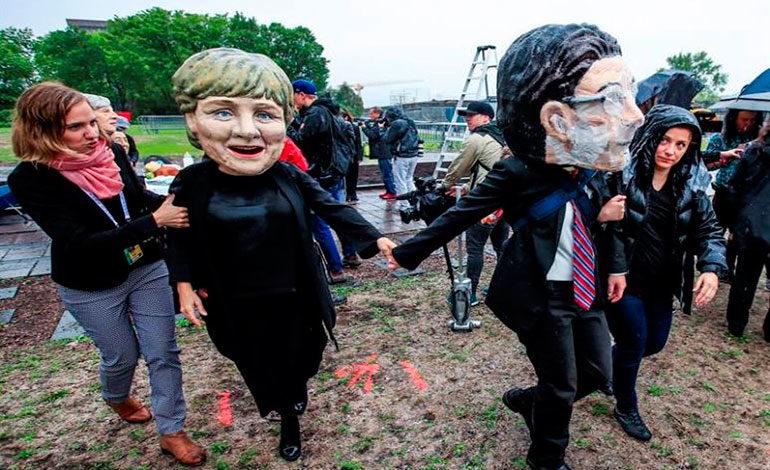 Primeras protestas empiezan a caldear el ambiente en la Cumbre del G7