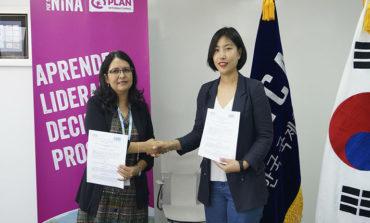 Plan Internacional y Corea del Sur firman acuerdo por la infancia de Honduras