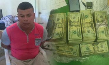 Pescador cae con 98 mil dólares en Puerto Lempira