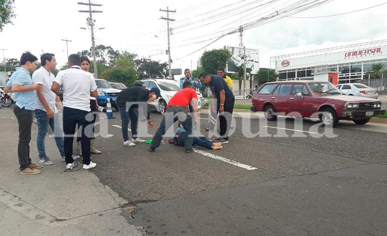 Una mujer resulta herida tras ser embestida por un vehículo en Tegucigalpa