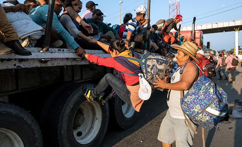 "Migrantes: ""Gracias, nos vamos para arriba"""