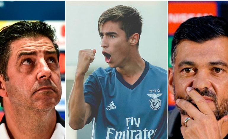 Hijo del entrenador del Oporto, a las órdenes del técnico del Benfica