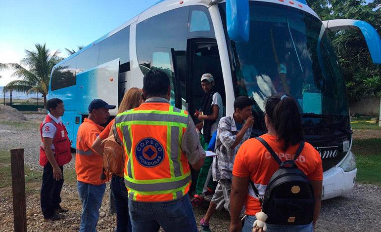 CAMR en Omoa recibió a 300 hondureños migrantes