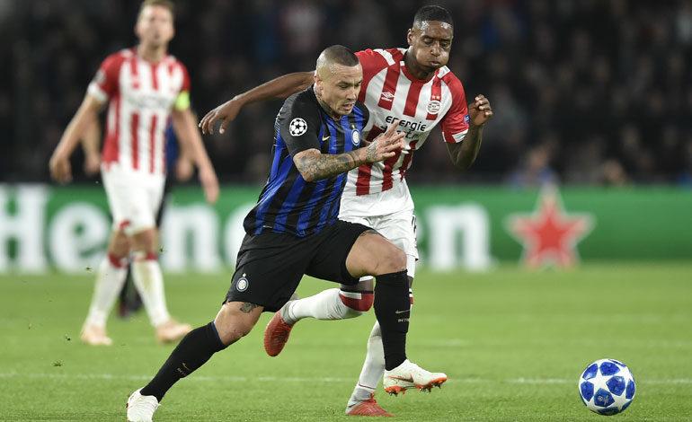 Inter de Milán se impone con remontada al PSV
