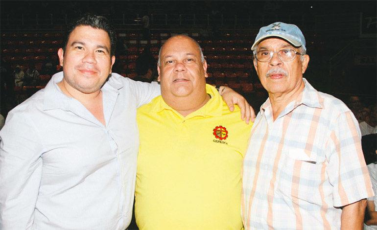 Cesar Díaz, Roberto Murra y Mario Díaz.