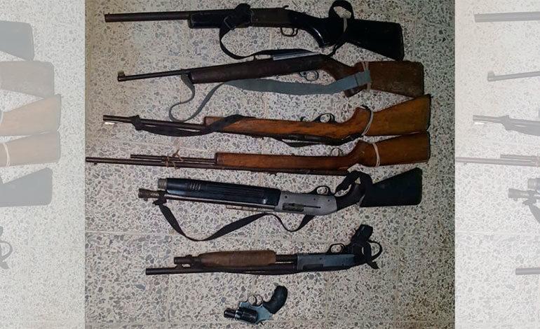 Ministerio Público decomisa siete armas de fuego en Gualaco