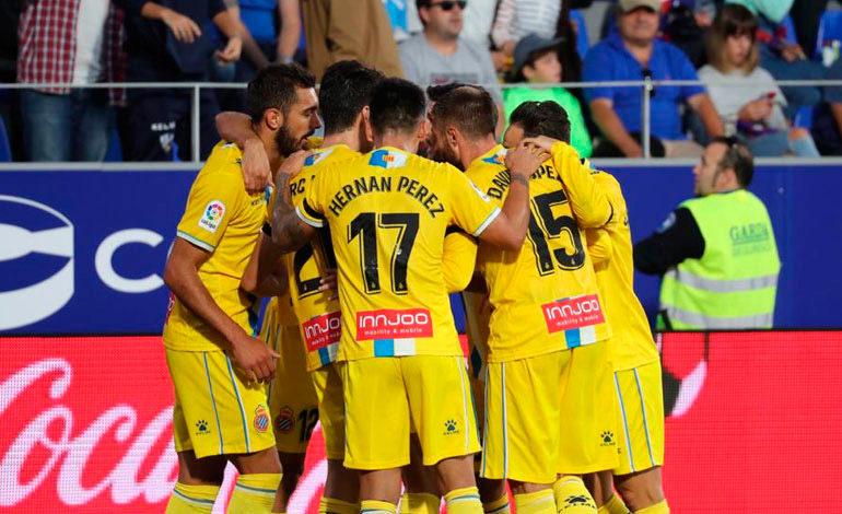 Espanyol gana en Huesca para ponerse segundo en la Liga