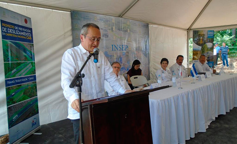 JICA e INSEP inician obras para prevenir deslizamientos en carretera CA-6