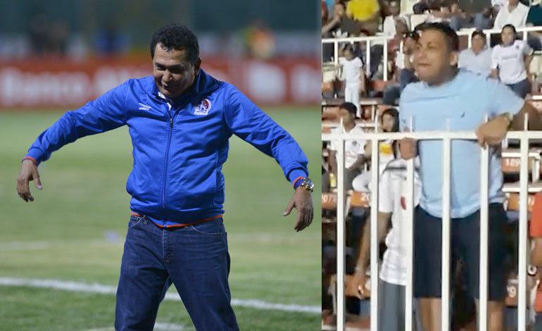 Aficionados de Olimpia insultaron al técnico Nahún Espinoza