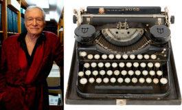 Máquina de escribir de Hefner factura $162.000 en subasta