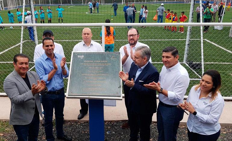 Conapid y Tigo inauguran cancha deportiva Furia Solís