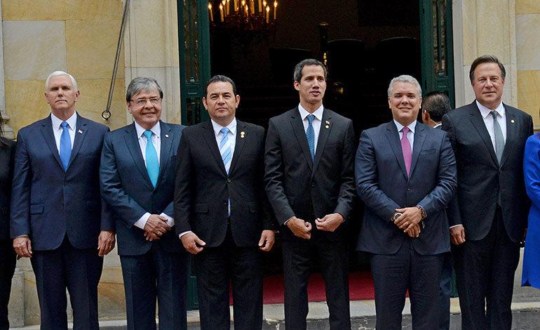 """Grupo de Lima apoya transición democrática en Venezuela """"sin uso de la fuerza"""""""
