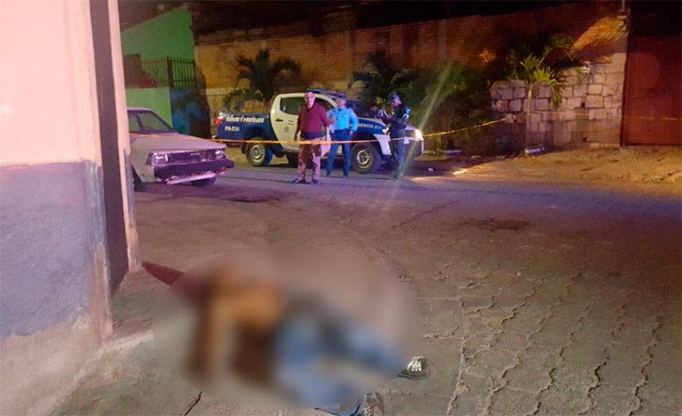 Matan hombre en calle de colonia Lempira
