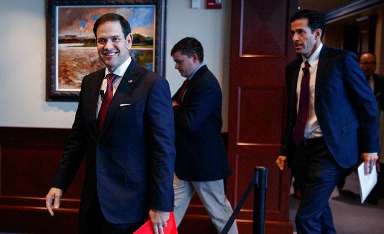 Senador Marco Rubio llega a Colombia para coordinar ayuda para Venezuela
