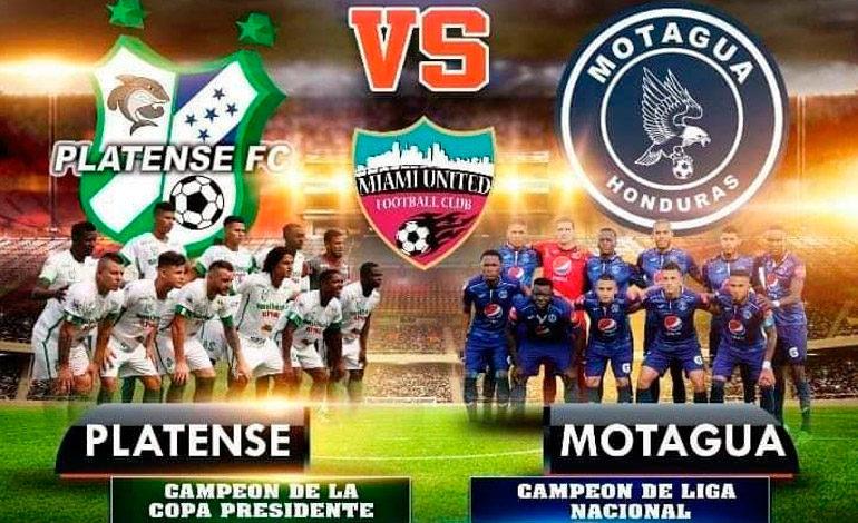 Platense y Motagua jugarán Copa de Campeones ante Miami United