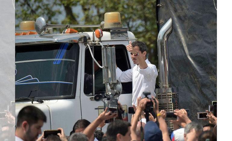 Guaidó anuncia entrada de ayuda por Brasil