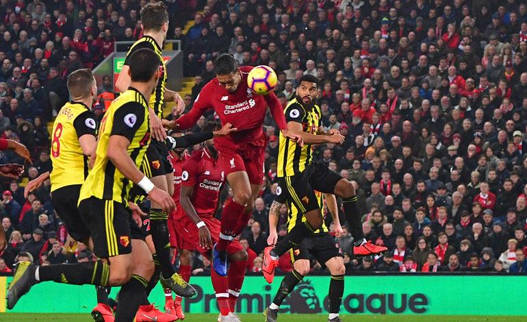 Manita del Liverpool al Watford para recuperar la confianza